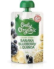 Only Organic Banana Blueberry & Quinoa  6+ Months - 120g