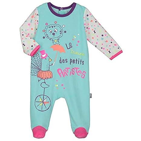 2177b95c86878 Pyjama bébé velours Petite Troupe - Taille - 3 mois (62 cm)  Amazon ...