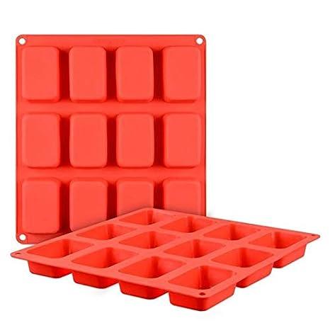 COMsd 12PCS DIY moldes para Hornear Pastel de Silicona ...