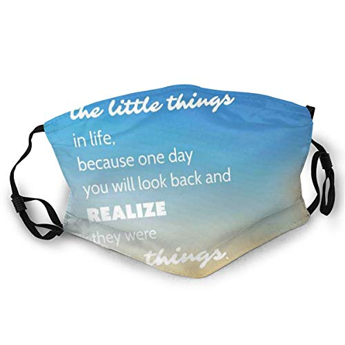 Comfortable Windproof mask,Inspirational Slogan On Future On Blurry Sunset Background,Double Printed Facial decorations for adult