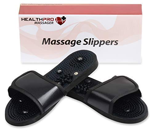 HealthPro Massage Slippers | Great for Neuropathy | Sore Tired Feet | TENS and EMS Accessory