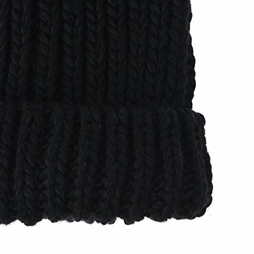 Gorros Skull Hat Cuff Ribbed Thick Beanie Negro Slouchy Punto KR5911 Cap WITHMOONS de Knit R1vwxdqqU