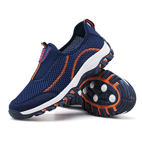 Sport Athltique Fonc Orange Sportif Chaussure Bleu Sevenwell De Pour Course Pied Femme Lger Sneaker Flyknit Et 6x7x8qw