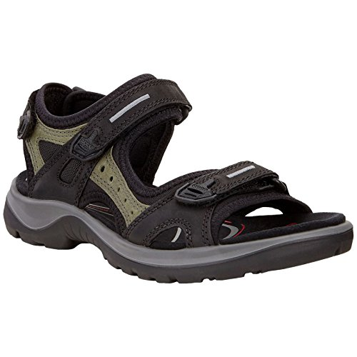 (ECCO Women's Yucatan outdoor offroad hiking sandal, Black/Mole/Black, 9 M)