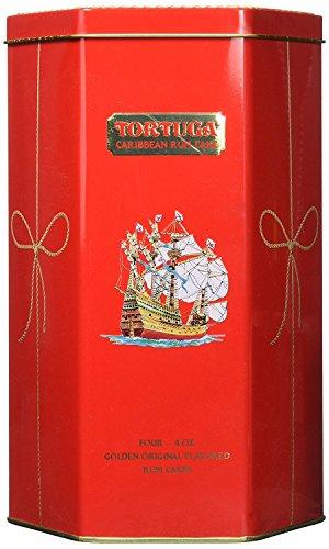 Caribbean Rum Cake - Tortuga Caribbean Golden Original Rum Cake Gift Pack 4oz - 4 Pack in Keepsake Tin