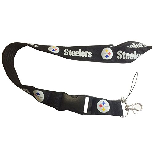 Steelers Buckle (ENJOY 11 NFL design Lanyard with Detachable Buckle (Steelers))