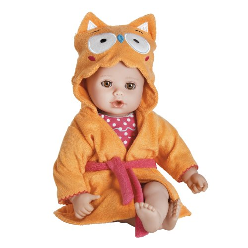 "Adora BathTime Owl Baby Doll 13"" 20253003 Washable Open/Clos"