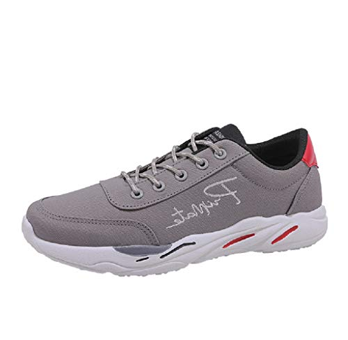 De Zapatos De Zapatos Deporte Cordones Primavera De Transpirable Gris Casual Deporte Hombres Viajes ALIKEEY Zapatillas YxCqzff