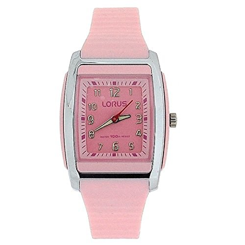 Lorus Ladies Water Resistant Pink Sports Strap Watch RRX89CX9