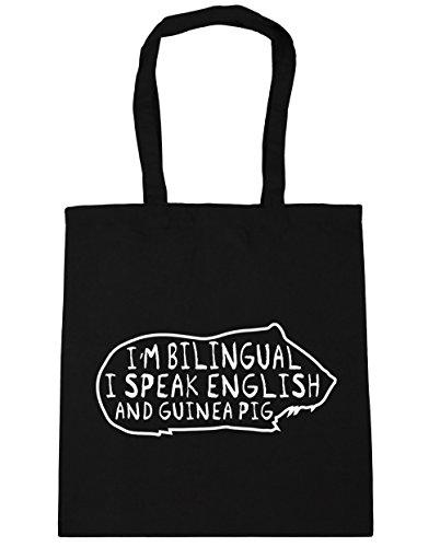 Speak Black 42cm Tote 10 Gym I'm Guinea litres Bag English HippoWarehouse Shopping I Beach Pig And Bilingual x38cm wt1FSTSqU