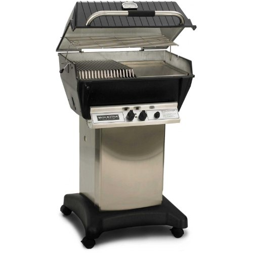- Broilmaster P3-sx Super Premium Propane Gas Grill On Stainless Steel Cart