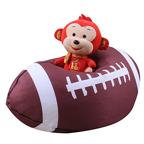 KathShop Creative Basketball Football Plush Toy Stuffed Animal Padded Storage Bean Bag Chair Portable ren's Toy Clothes Storage Bag by KathShop