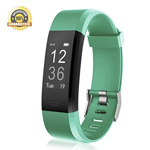 Fitness Tracker Heart Rate Monitor Gemeita Sport Smart Wristband IP67 Waterproof Wearable Activity Tracker with Steps&Calorie Burned and Distance Counter Sleep Monitor Pedometer (green)