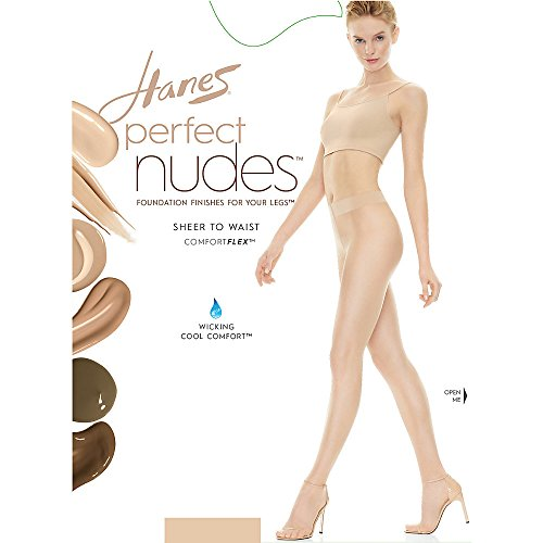 Hanes Silk Reflections Women's Perfect Nudes Sheer to Waist Pantyhose, Transparent, - Nudes Waist To Sheer