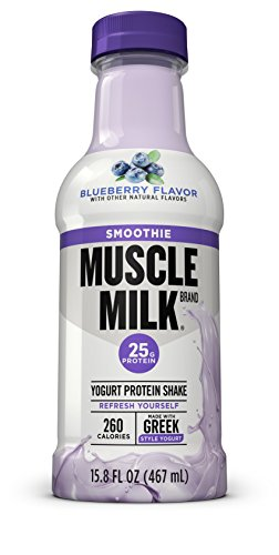 Muscle Milk Smoothie Protein Yogurt Shake, Blueberry, 25g Protein, 15.8 FL OZ, 12 count