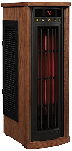 Duraflame 5HM8000-O142 Portable Electric Infrared Quartz Oscillating Tower Heater, Oak