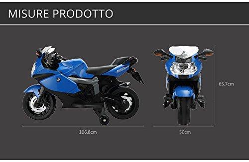 Generico MOTO MOTORE ELETTRICO PER BAMBINI BMW CON LUCI E SUONI