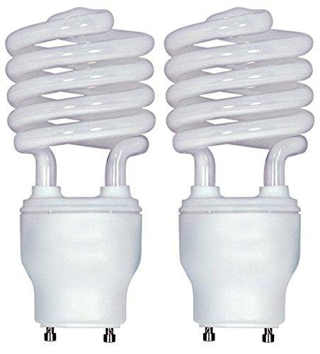 Spiral Compact Fluorescent GU24 base 2700K 26 Watt 120 volts  (2-Pack) ()