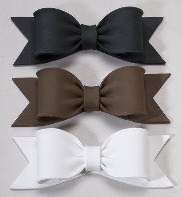 12 Ct    Upscale Bows Gum Paste Decorations   Cake Decoration   Cupcake Decoration   Wedding