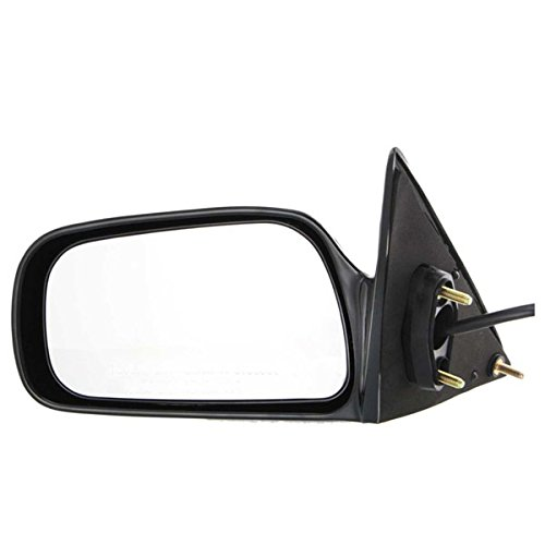 1997 1998 1999 2000 2001 Toyota Camry (Japan Built) Power Unheated Non-Heat Smooth Black Non-Folding Fixed Rear View Mirror Left Driver Side (97 98 99 00 01)