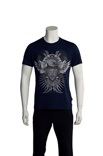Just Cavalli Men Hawk Crest T-Shirt