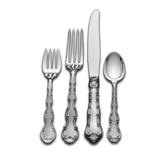 Gorham Strasbourg 4-Piece Sterling Silver Flatware Place Set, Service for 1