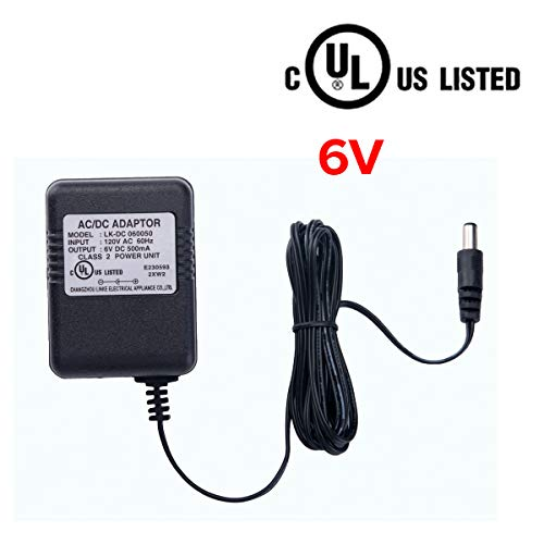 bestlaixing 6 Volt Battery Charger for Kids Electric Ride On Toys Battery Power Adapter