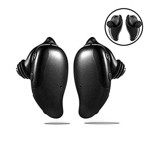 Jayspree Bluetooth Headphones 4.1 True Wireless in Ear Earbuds with Mic Sport Stereo Headset Noise Cancelling Sweatproof Earphones for Cellphones on Sports and Driving.(Black)