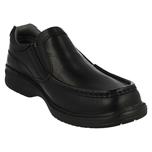 Clarks Keeler Paso Hombres resbalón EN Los Zapatos Black