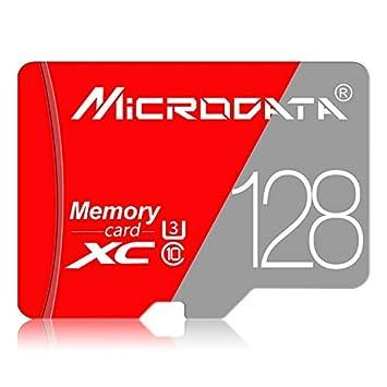 RUNNA 128 GB Clase 10 Rojo y Gris TF (Micro SD) Tarjeta de Memoria ...