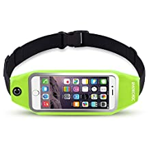 uFashion3C Universal Running Belt Pouch Case/ Waist Fanny Pack for iPhone 6, 6S, 6 Plus, 6S Plus, Galaxy S5, S6, S7,Edge, Note 3, 4, 5, LG G3, G4 G5 with OtterBox/ LifeProof Waterproof Case (Green)