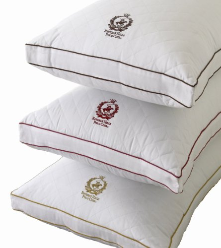 Beverly Hills Polo Club Firm Density 300 Thread Count Quilted Pillow, Espresso Crest