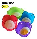 egg poacher pot - mockins 4 Pack Silicone Egg Poacher Cups Silicone Egg Poaching Pods For Stovetop Or Microwave Egg Cooking