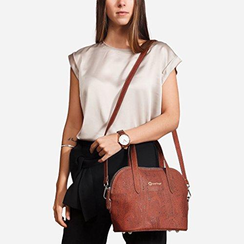 Top 9 Satchel Handle Natural Cork Red to Small 5 Corkor Handbag Tote Bag Crossbody dnXq1gPw