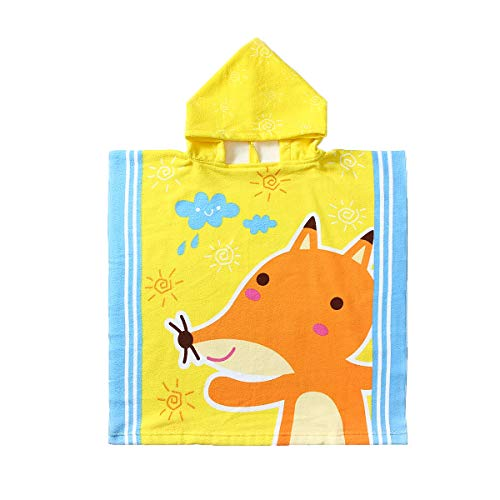Animal Hooded Beach Towel for 1-6 Years Kids Baby Toddler,Use for Bath,Swimming,Pool and Beach Holiday,Soft Microfiber Strong Absorbent