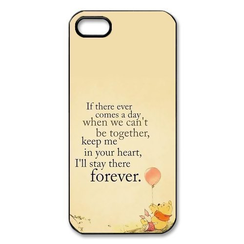 Customized Winnie the Pooh Hard Case for Apple IPhone 5/5S (Quote Case For Iphone 5s)