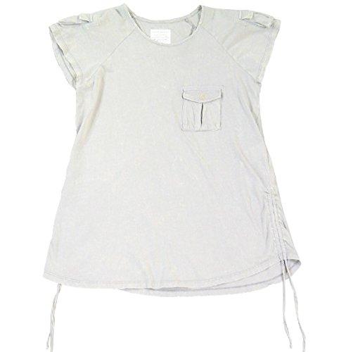 敗北従来のこんにちは(アビレックス)AVIREX レディース Tシャツ カットソー チュニック 半袖 ドレープ カーゴ ミリタリー ポケット 6243171