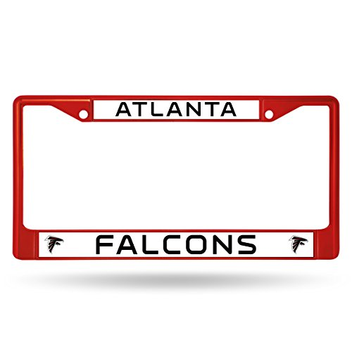 Rico Industries NFL Atlanta Falcons Colored Chrome Plate Frame, Red ()