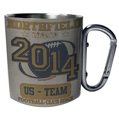 Northfield Eagles Footbal Club Since 2014 US Team Stainless Steel Carabiner Travel Mug 11oz x827c