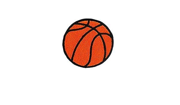 Parche bordado termoadhesivo con diseño de balón de baloncesto  Amazon.es   Hogar 6c5a0f3e436f4