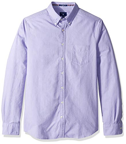 GANT Men's The Fitted Oxford Shirt, Aster Purple M ()