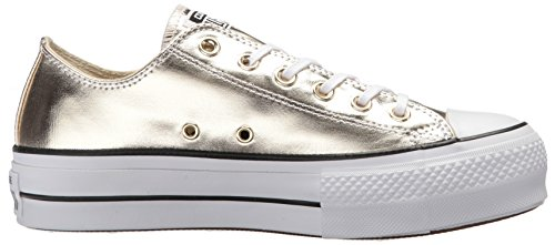 Converse Top Sneaker Low Lift Gold White Black Canvas Women's rvwIrq7