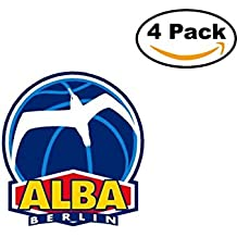 fan products of Basketball Alba Berlin Logo. 4 Stickers 4X4 Inches Car Bumper Window Sticker Decal