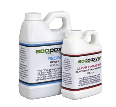 Ecopoxy Clear Epoxy Kit (Boat Building and Repair (Epoxy Resin, 750 ml)