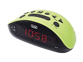 Trevi RC 832 - Radio reloj despertador digital AM / FM con presintonias, color verde: Amazon.es: Electrónica