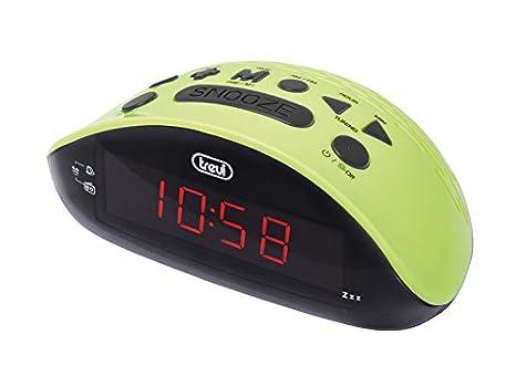 Trevi RC 832 - Radio reloj despertador digital AM / FM con presintonias, color verde: Amazon.es: Electrónica