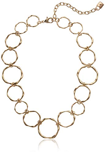 - Chaps Women's Gold Circle Collar Necklace , Adjustable