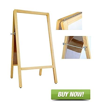 Amazon.com : Signworld A Frame Wooden White Marker (Dry Erase) Menu ...