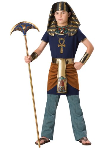 InCharacter Costumes Boy's Pharaoh Costume, Blue/Gold, 12