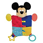 Disney Baby Mickey Mouse Plush Teether Blanket, 12
